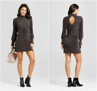 NEW Xhilaration Juniors/Womens Chenille Mockneck Dress Gray Size X-Small