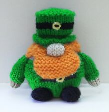 KNITTING PATTERN - Lucky Leprechaun chocolate orange cover / 11 cms Irish toy