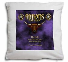 Taurus Star Sign Birthday Gift Soft Velvet Feel Cushion Cover With In, ZOD-2-CPW