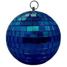 blau 10cm Spiegelkugel Disco-Kugel Disko-Kugel DJ Deko Effekt-Licht Party-Licht