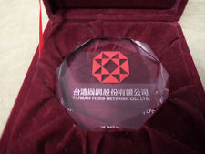 #CC10.  TAIWAN  NETWORK CASED PRESENTATION GLASS PAPERWEIGHT