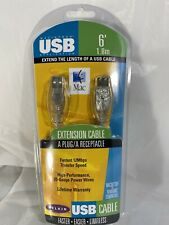 Belkin USB A Plug/A Receptacle Extension Cable 6' Mac Or PC Extends USB Cable