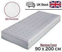 BONEX Aloe Vera Comfort Mattress Cover Polyester White and Green 90 x 200 cm cm
