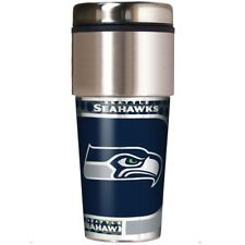 NFL Seattle Seahawks 360 Wrap Travel Tumbler Football Fan Coffee Mug Cup