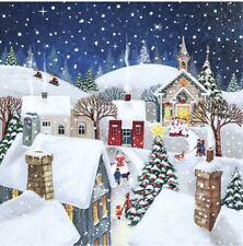 Decoupage Paper Napkins, Christmas Scene, Tissue, Serviette x2, BUY 4 get 2 FREE