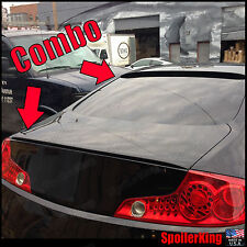 COMBO (Fits: Infiniti G35 2003-07 2dr) Rear Roof Wing & Trunk Spoiler 284R/244L