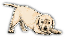 Labrador Retriever Puppy Car Bumper Sticker Decal 6' x 3'