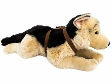 BRUBAKER Stuffed Plush Toy Dog German Shepherd With Belt - 24 Inches