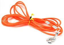 Orange BioThane Waterproof 20' Long Tracking Training Dog Leash w Stainless Clip