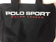 POLO SPORT Ralph Lauren Vintage new Large Spell out Canvas Tote Zipper Bag