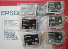 6 Genuine Epson 48 Ink T048 T0481-T0486_R200 R220 R300 R320 R340 RX500/600/620