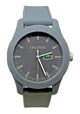 Lacoste Men's 2010767 Quartz GREY Resin Watch - Textured Silicone Strap Band