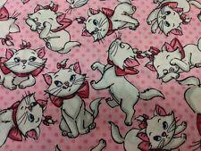 New ListingDisney The Aristocats Marie Fabric Scrap Quilt Sew Craft