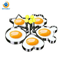 5pcs Stainless steel Cute Shaped Fried Egg Mold Pancake Rings Mold Kitchen Tool