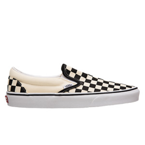 Vans Classic Slip-On Unisex Black White Casual Shoes Lifestyle Athletic Sneakers