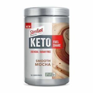 Slim Fast Advance Keto Fuel Shake Smooth Mocha 350g - 202 kcal Per Serving