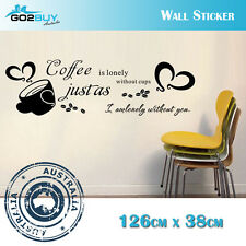Wall Stickers Removable Coffee is lonely Living Room Decal Picture Art Romantic