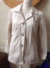 ❤️❤️❤️Per UNA @ M&S UK 16 (44) Beige  Rain Jacket With Collar, Button Detail VGC