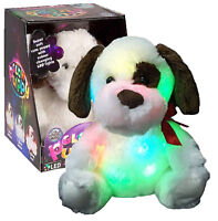 LIGHT UP PLUSH PUPPY DOG CHILDREN'S SOFT COLOUR CHANGING NIGHT LIGHT TOY 29-0096