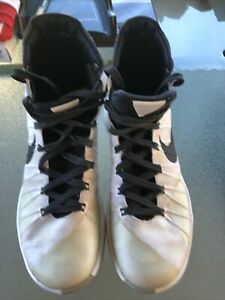 2015 NIKE Hyperdunk Men's Basketball Shoes White Black Grey 749561-100 Sz 9.5