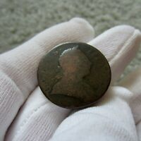 1773 Colonial American Revolutionary War Era Copper Coin Halfpenny Half Penny