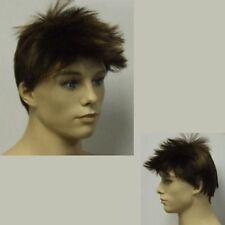 Male Brown Wig - Short Brown Hair