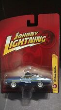 Johnny Lightning 1977 77 Chevy Chevelle Charleston Police Cop Car 1/64 Blue