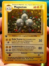 Original Vintage Pokemon Cards 1st Edition Spanish Magneton Base Holo 9/102 NM