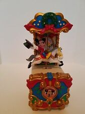 1995 MR CHRISTMAS DISNEY MICKEY MOUSE WIND UP MUSICAL CAROUSEL ORNAMENT