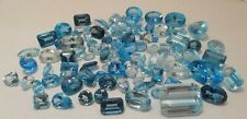 Loose 549.85 CTW -Natural & Tested Blue Topaz Gemstone Collection- Asstd Shapes