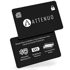 RFID Blocking Card Contactless   by Attenuo - 1 Card Protects whole wallet