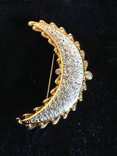 Beautiful Half Moon Swarovski Pin Brooch New