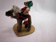 "World of Miniature Bears 3.5x3.5"" Plush Bear/Horse #1090 Merry Chrismoose"