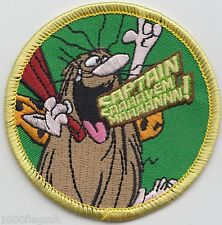 Captain Caveman Embroidered Patch Badge