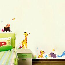 wall stickers elephant zebra bird giraffe zoo baby vinyl decal decor kid Nursery