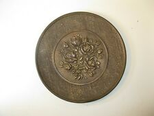 Antique Brass Wall Plate Roses Made England