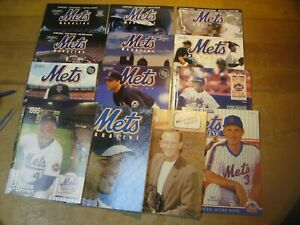 13 New York Met Vintage Baseball Programs -- Mint Condition - 1990 - 2009