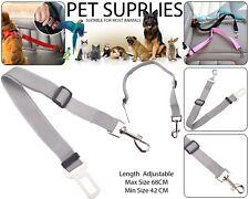 Pet Dog Car Seat Belt Safety Ajustable Harnesses Lead Restraint Clip Leash Gris