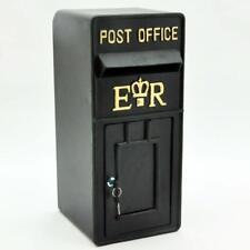 Royal Mail Post Box ER II Pillar Box Black Cast Iron  Post Office Letter Box
