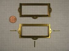 """SHELBY #56-US4 CARD HOLDER, STAMPED STEEL, SATIN BRASS, 2-7/8"""" x 1-5/16"""" CARD"""