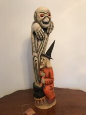 Bethany Lowe Anthony Costanza Captured Carvings Stirring Up a Ghoul—retired