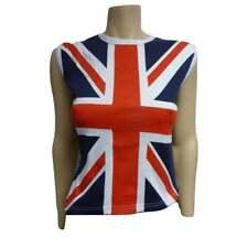 Union Jack Ladies Cut sleeve - sleeveless T shirt
