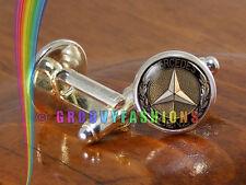 Mercedes Benz Car Cufflinks Mens Silver Shirt Cuff Links Wedding Party Gift