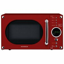 Daewoo KOR8A9RR 23L 800W 5 Programmes Touch Control Microwave Oven in Gloss Red