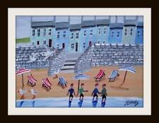 """La primitiva canoisti: ARTE DEL NORD dipinto ad olio: John Ormsby 14""""x 10"""""""