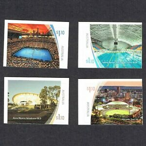 2020 Sports Stadiums 4 No. $1.10 Self Adhesive Booklet Stamps. MUH/MNH