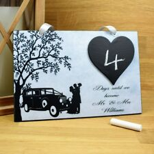 PERSONALISED Wedding Countdown Plaque Mr and Mrs Engagement Gift 721