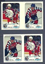 1992-93 Kraft Cheese NHL All-Stars Proof Gutter Pair Hull and Jagr + Issued Pair