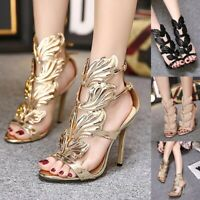 Luxury Women Banquet Stiletto High Heel Party Shoes Peep Toe Sandals Wedding