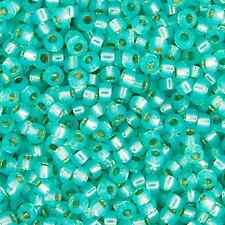 20 Grams Miyuki 8/0 Seed Bead-Aqua Green S/L Opal Dyed Alabaster 3mm (8-0571)